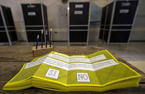 risultati del referendum in attesa